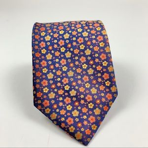 Youth boys floral print tie